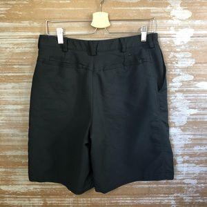 "Nike Golf Mens Black Textured 9"" Shorts Flat Front"
